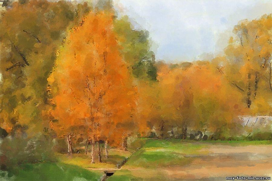 Осень акварельные рисунки (1)