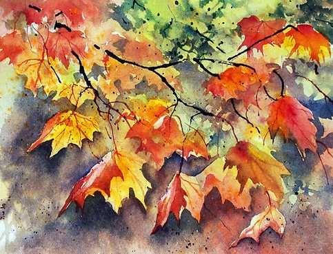 Осень акварельные рисунки (11)