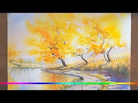 Осень акварельные рисунки (14)