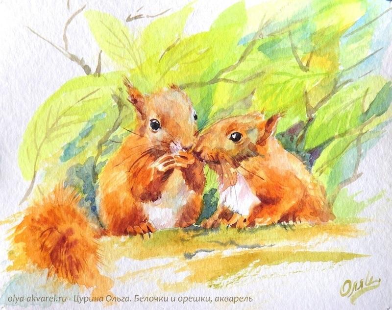 Осень акварельные рисунки (18)
