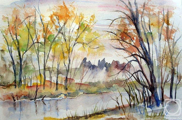 Осень акварельные рисунки (19)