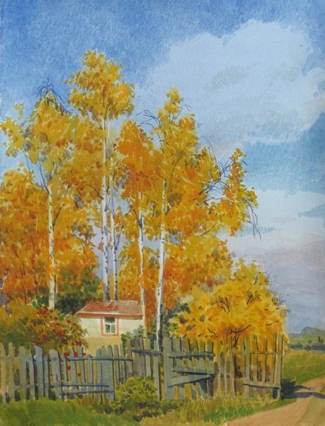 Осень акварельные рисунки (2)