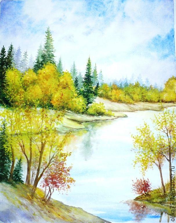 Осень акварельные рисунки (22)