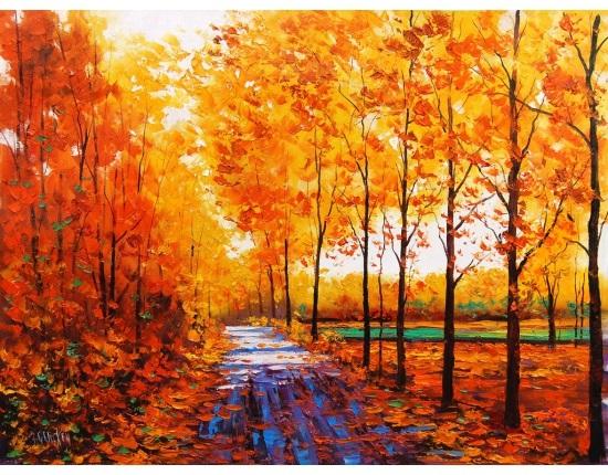 Осень акварельные рисунки (23)