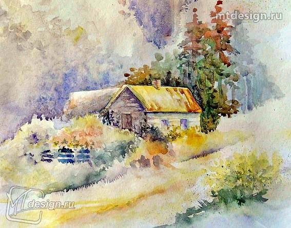 Осень акварельные рисунки (4)