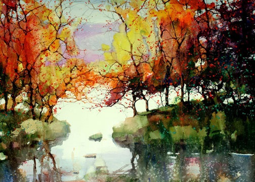 Осень акварельные рисунки (5)