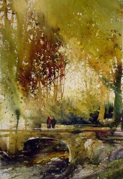 Осень акварельные рисунки (7)
