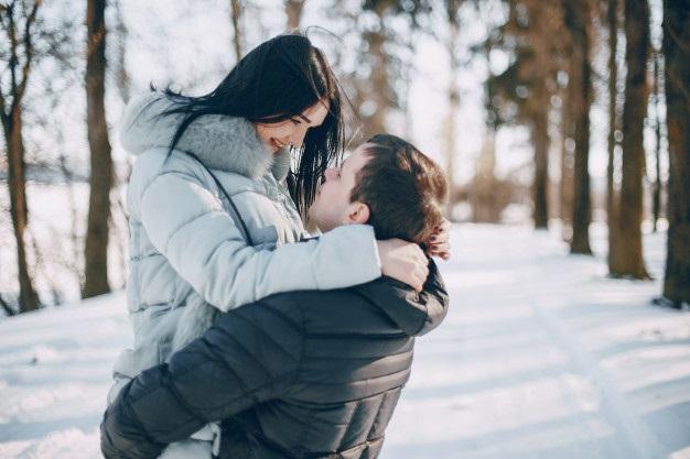 Пары фото зима - подборка (10)