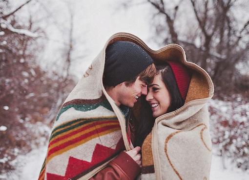 Пары фото зима - подборка (13)