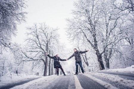 Пары фото зима - подборка (14)