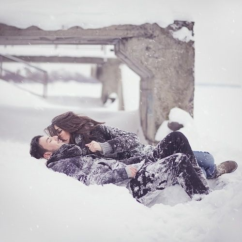 Пары фото зима - подборка (17)