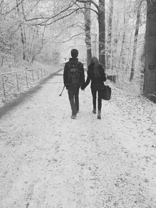 Пары фото зима - подборка (21)