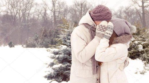 Пары фото зима   подборка (23)