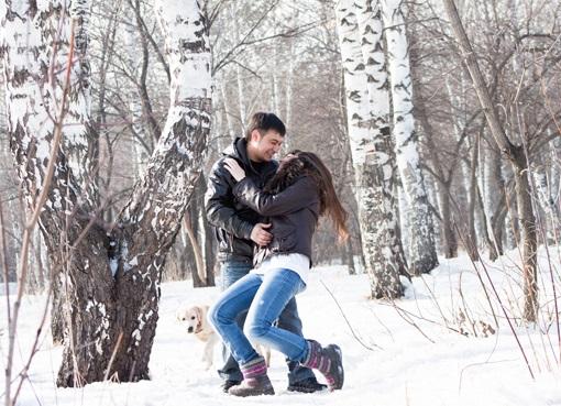 Пары фото зима - подборка (3)