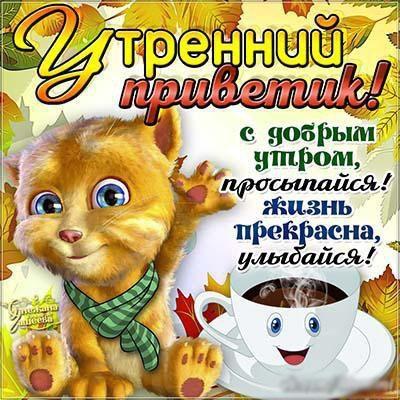 Привет с добрым утром открытка (13)