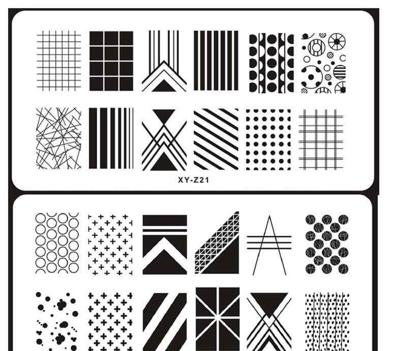 Рисунки шаблоны для ногтей (10)