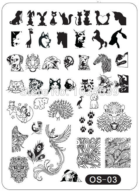 Рисунки шаблоны для ногтей (12)