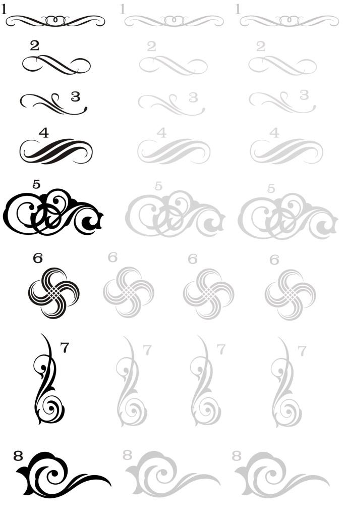 Рисунки шаблоны для ногтей (16)