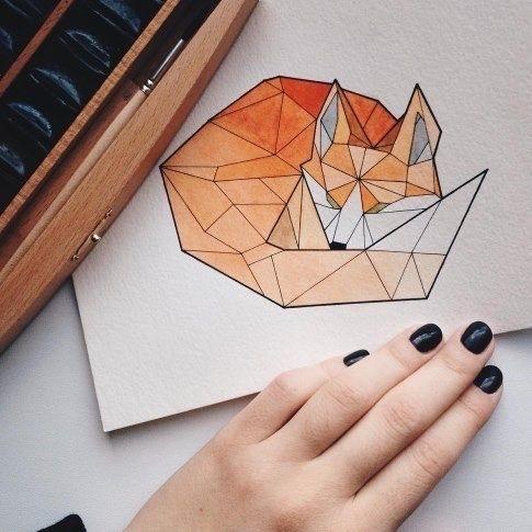 Рисунок в стиле оригами (1)
