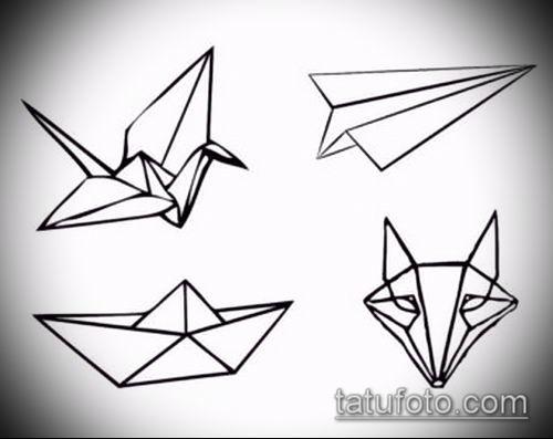 Рисунок в стиле оригами (10)