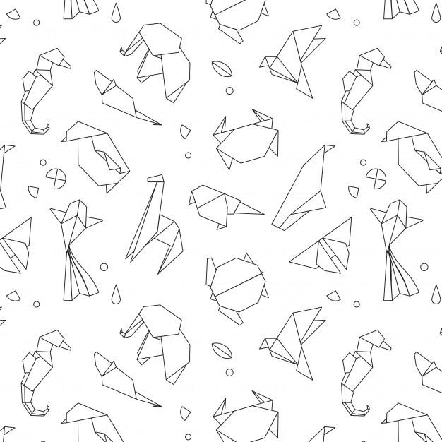 Рисунок в стиле оригами (18)
