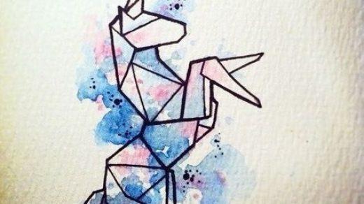 Рисунок в стиле оригами (5)