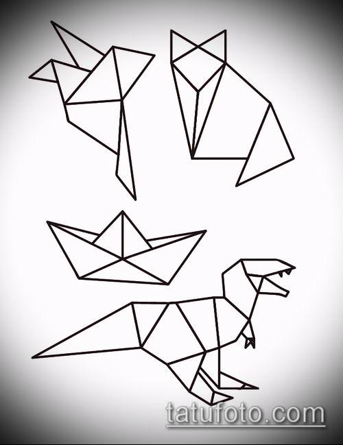 Рисунок в стиле оригами (6)