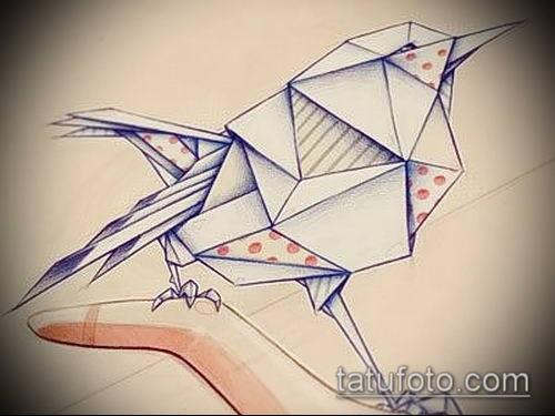 Рисунок в стиле оригами (8)