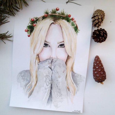 Рисунок девочка в свитере (15)