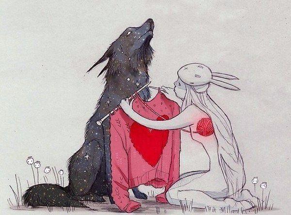 Рисунок девочка в свитере (8)