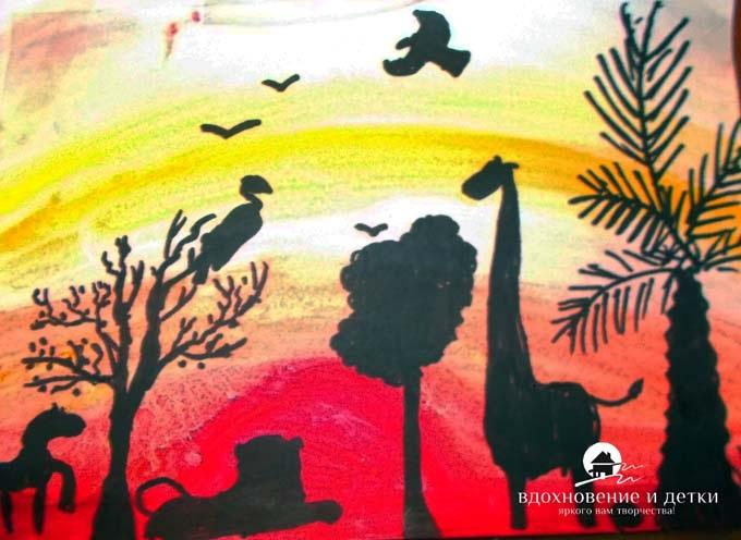 Рисунок для детей африка (19)