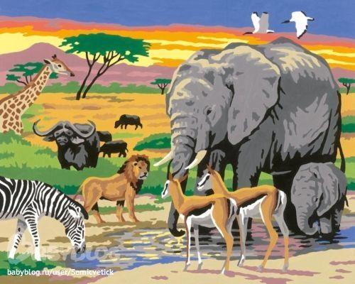 Рисунок для детей африка (2)