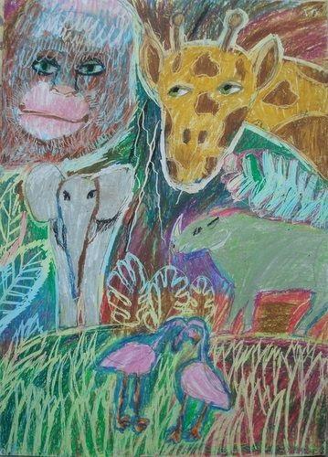 Рисунок для детей африка (20)
