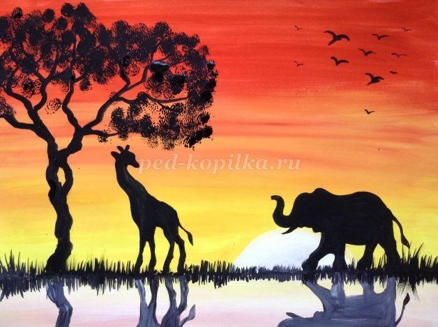 Рисунок для детей африка (21)