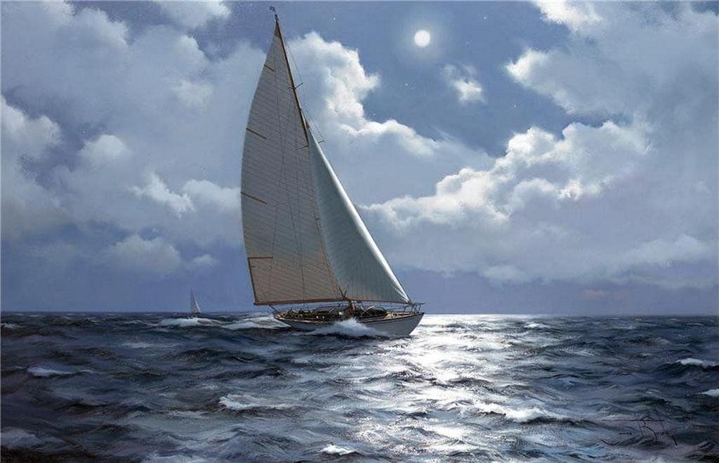 Рисунок море и парусник (19)