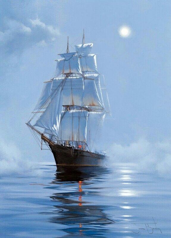Рисунок море и парусник (22)