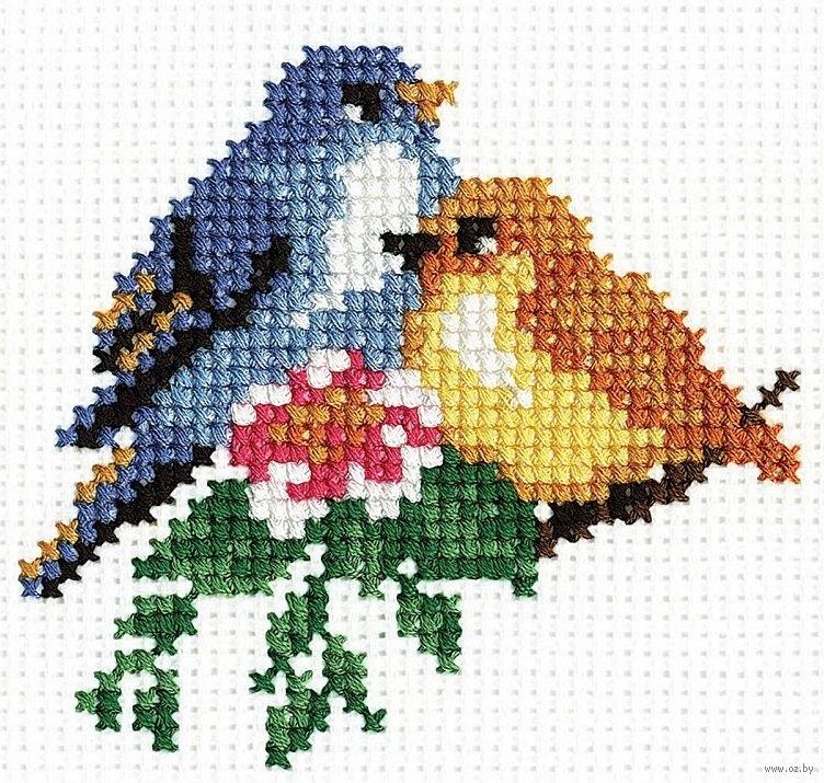 Рисунок птичка для вышивки (13)