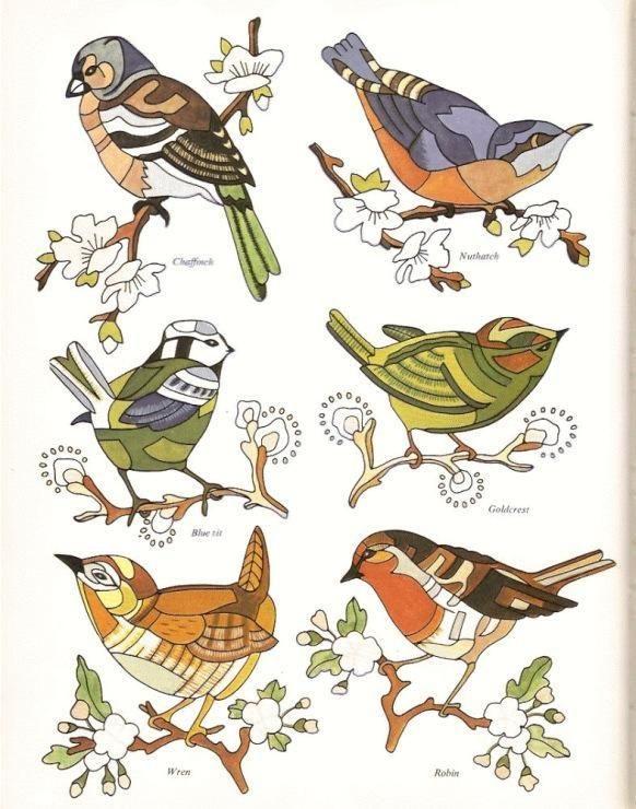 Рисунок птичка для вышивки (2)