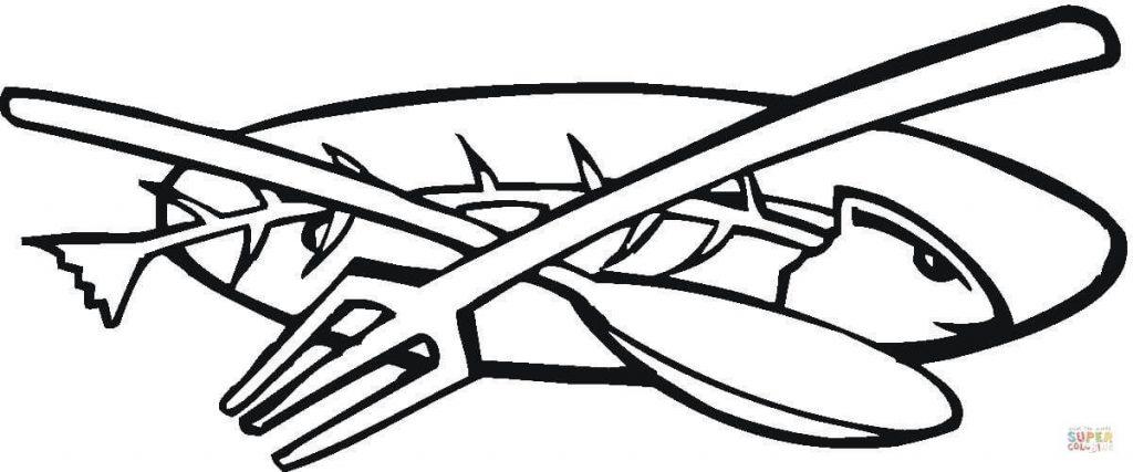 Рисунок рыба на тарелке (19)