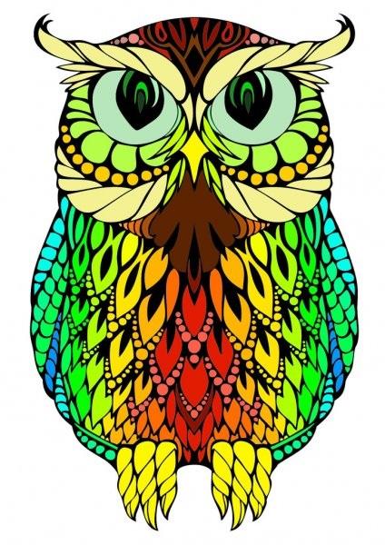 Рисунок совы в графике (13)