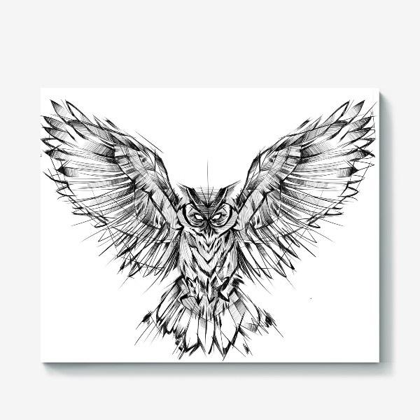 Рисунок совы в графике (21)