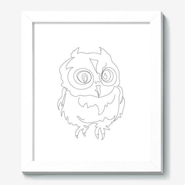 Рисунок совы в графике (5)