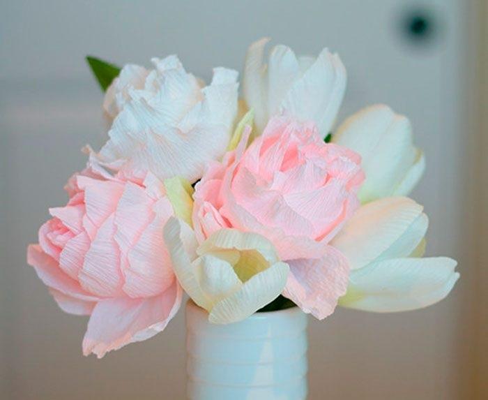 Розы из папиросной бумаги (12)