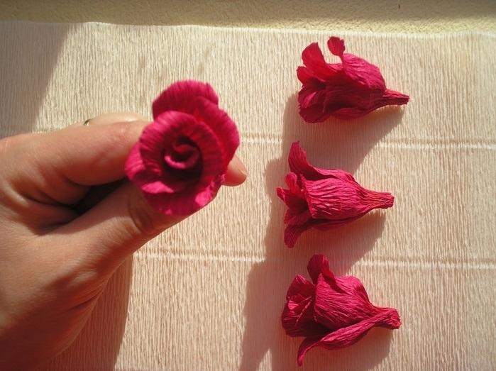Розы из папиросной бумаги (17)