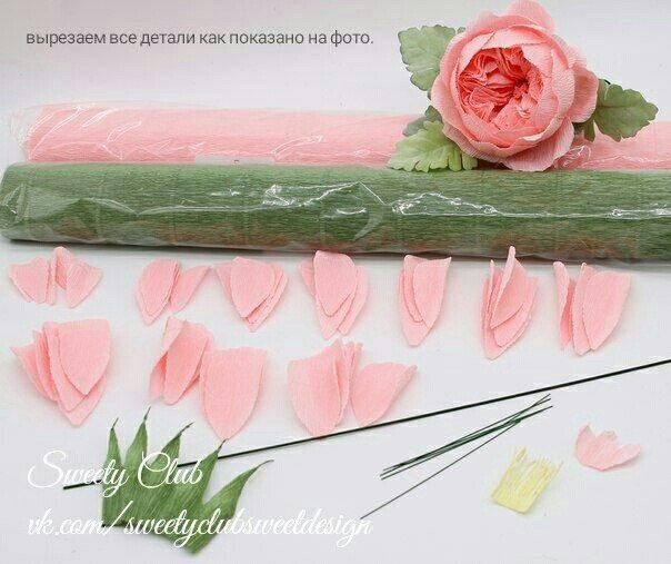 Розы из папиросной бумаги (2)