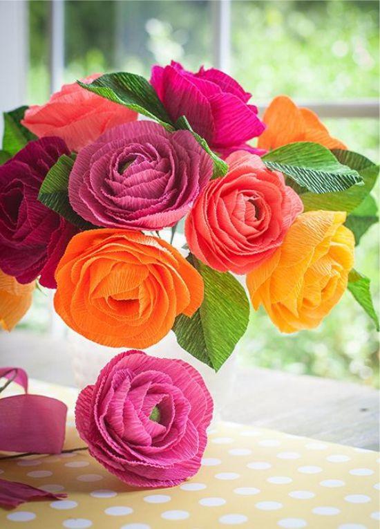 Розы из папиросной бумаги (20)