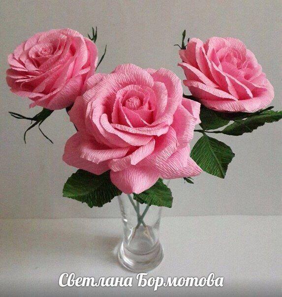 Розы из папиросной бумаги (24)