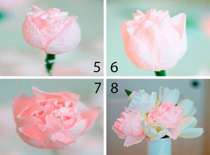 Розы из папиросной бумаги (7)