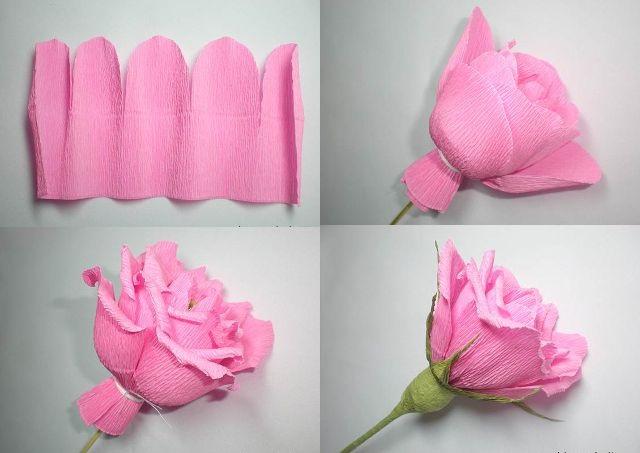 Розы из папиросной бумаги (9)