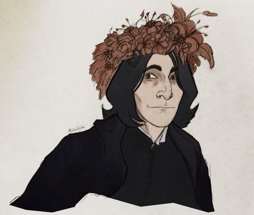 Северус Снейп рисунки подборка (21)